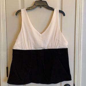 Torrid black and white  Colorblock Top